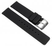 Minott Ersatzband Uhrenarmband Silikon Band schwarz 19648
