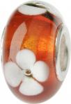 Charlot Borgen Marken Damen Bead Beads Drops Kristallglas Silberkern GPS-03Rot