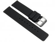 Minott Ersatzband Uhrenarmband Silikon Band schwarz 16mm