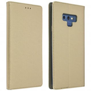 Samsung Galaxy Note 9 Flip Cover mit Kartenschlitz & Standfunktion - Gold