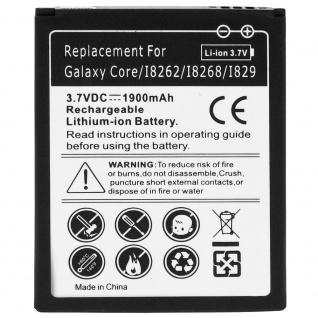 1900 mAh Ersatzakku passend für Samsung Galaxy Core I8260/ Core Duos I8262