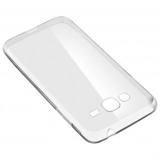Samsung Galaxy J3 Rundumschutz â€? transparente Hülle + Glas-Displayschutzfolie