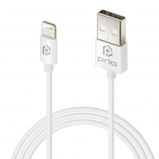 Weißes Prio 1m langes Silikon USB auf Lightning Lade-/Datenkabel