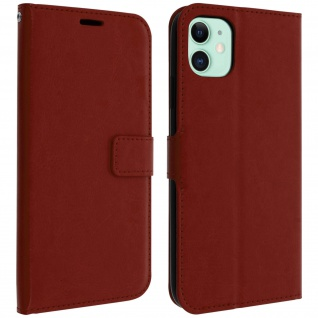 Flip Cover Stand Case Brieftasche & Standfunktion Apple iPhone 11 - Braun