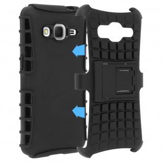 Schutzhülle mit Hartschale + Standfunktion Samsung Galaxy Core Prime - Schwarz