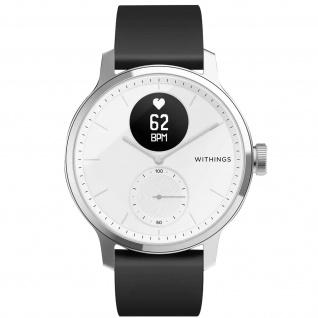 Withings Gesundheits-Wearable Scanwatch, 42mm Armband mit EKG und SpO2 ? Weiß