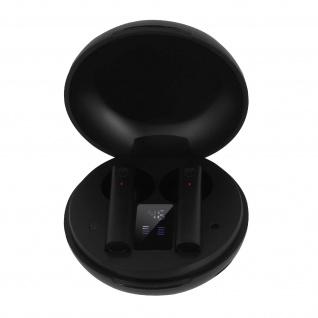 Bluetooth Wireless Kopfhörer, 12 Std. Akkulaufzeit, LED-Anzeige - Schwarz