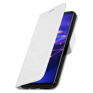 Flip Stand Cover Brieftasche & Standfunktion Huawei Mate 20 lite - Weiß - Vorschau 2