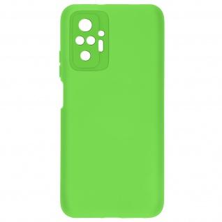 Halbsteife Silikon Handyhülle für Xiaomi Redmi Note 10 Pro, Soft Touch ? Grün