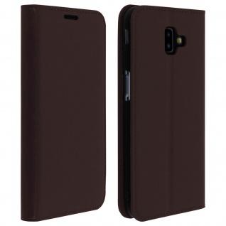 Business Leder Cover, Schutzhülle mit Geldbörse für Galaxy J6 Plus - Braun