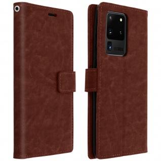 Flip Cover Stand Case Brieftasche & Standfunktion Galaxy S20 Ultra - Braun