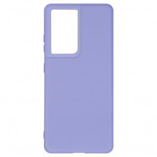 Halbsteife Silikon Handyhülle für Samsung Galaxy S21 Ultra, Soft Touch ? Violett