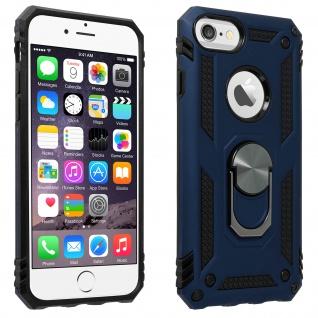Hybrid Handyhülle mit Ring Halterung für Apple iPhone 6/6S/7/8 - Dunkelblau