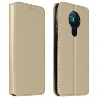Kunstleder Cover Classic Edition Nokia 5.3 ? Gold