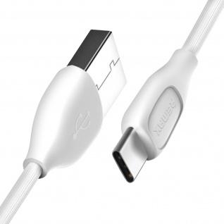 USB Typ-C auf USB Kabel, 1 Meter, Aufladen & Sync, Aluminium, Remax - Weiß - Vorschau 2