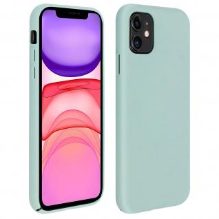 Halbsteife Silikon Handyhülle Apple iPhone 11, Soft Touch - Graugrün