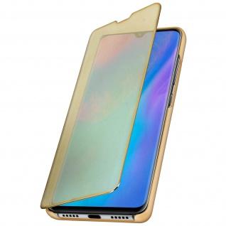 Huawei P30 Pro Flip Cover mit Spiegeleffekt & Standfunktion � Gold