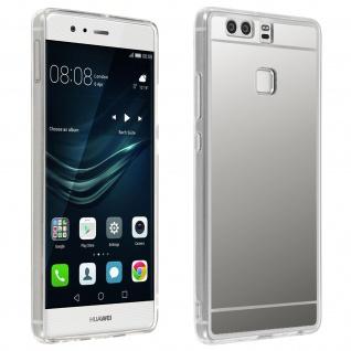 Unverbrüchliche Schutzhülle mit Spiegeleffekt für Huawei P9 - Silber - Vorschau 4