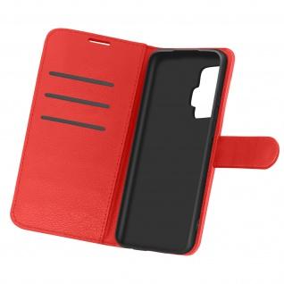 Kunstlederetui, Handyhülle mit Geldbörse für Vivo X51 5G - Rot