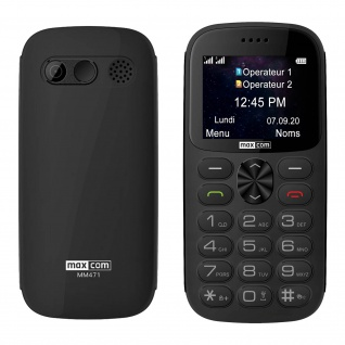 Senior Handy Dual Sim SOS-Taste 1400mAh 14Std. Akkulaufzeit MM471 Maxcom - Grau