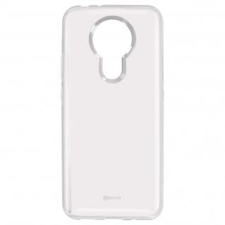 Nokia 3.4 Jelly Soft Silikonhülle, Stoßfeste Handyhülle, Roar - Transparent