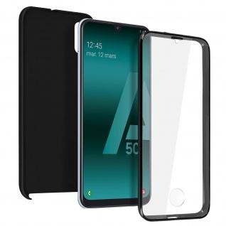 Schutzhülle für Samsung Galaxy A50, Vorder- + Rückseite - Schwarz
