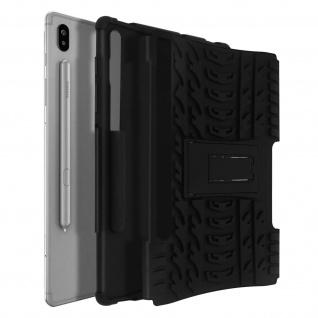 Stoßfeste Schutzhülle + Standfunktion für Samsung Galaxy Tab S6 10.5 - Schwarz
