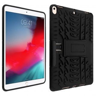 Stoßfeste Schutzhülle + Standfunktion für Apple iPad Air 2019/Pro 10.5 - Schwarz