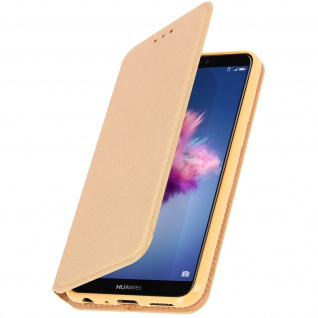 Flip Cover Geldbörse Classic Edition mit Standfunktion Huawei P Smart - Gold