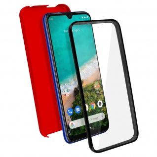 Schutzhülle für Xiaomi Mi A3, Vorder- + Rückseite ? Rot