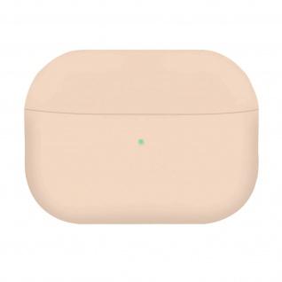 AirPods Pro Silikonhülle mit Soft-Touch Oberfläche, QI-Kompatibel - Sandrosa