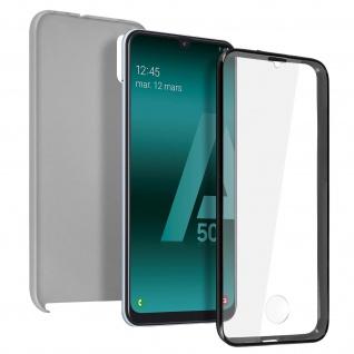 Schutzhülle für Samsung Galaxy A50, Vorder- + Rückseite ? Silber