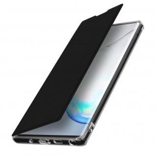 Spiegel Hülle, dünne Klapphülle für Samsung Galaxy Note 10 Plus - Schwarz