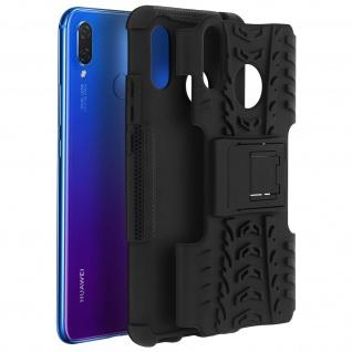 Stoßfeste Schutzhülle + Standfunktion für Huawei P Smart Plus - Schwarz