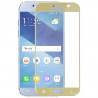 Displayschutzfolie aus Glas mit abgerundeten Kanten Galaxy A3 2017 - Gold