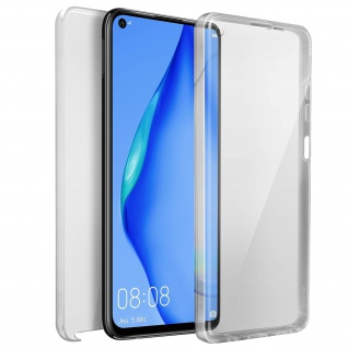 Schutzhülle für Huawei P40 Lite, Vorder- + Rückseite ? Transparent