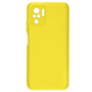 Halbsteife Silikonhülle für Xiaomi Redmi Note 10 / Note 10s, Soft Touch ? Gelb