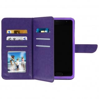 Universal Flip Cover Geldbörse mit 6 Kartenschlitzen Größe 3XL â€? Violett