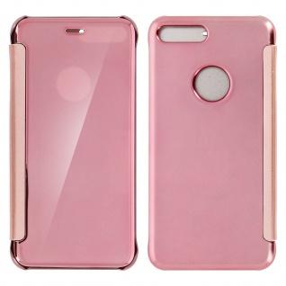 Rosafarbene Clear View Schutzhülle für Apple iPhone 7 Plus, 8 Plus