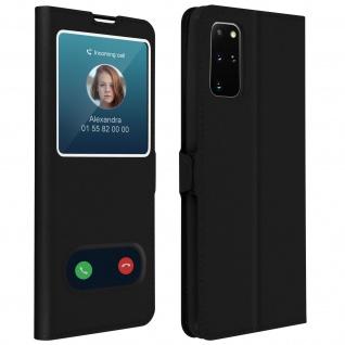 Samsung Galaxy S20 Plus Flip Cover Doppelfenster & Standfunktion - Schwarz