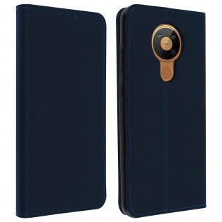Klapphülle mit Portemonnaie, Klappetui Kunstleder für Nokia 5.3 â€? Dunkelblau