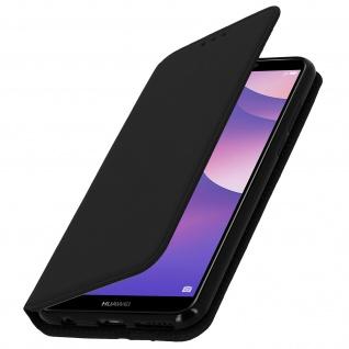 Flip Cover Geldbörse Classic Edition Honor 7C / Huawei Y7 2018 - Schwarz