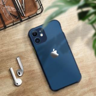 Apple iPhone 12 Mini Hülle aus Polycarbonat, Bumper aus Silikon - Dunkelblau - Vorschau 5