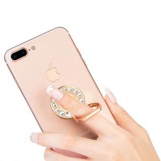 Ring Halterung für Smartphones, Crystal Strass 360° Ständer - Gold