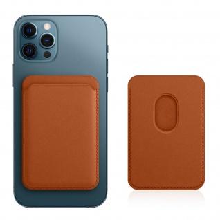 Magsafe Kartenetui aus Leder für iPhone 12, magnetische Befestigung ? Braun