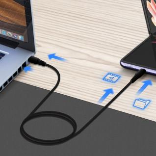 USB-C / USB-C Schnellladekabel, 3A Ladekabel by Swissten ? Schwarz - Vorschau 4