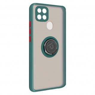 Hybrid Handyhülle mit Ring-Halterung für Oppo A15 ? Grün