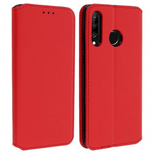 Kunstleder Cover Classic Edition Huawei P30 Lite - Rot