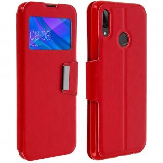 Klappetui mit Sichtfenster & Ständer Huawei P Smart 2019, Honor 10 Lite - Rot