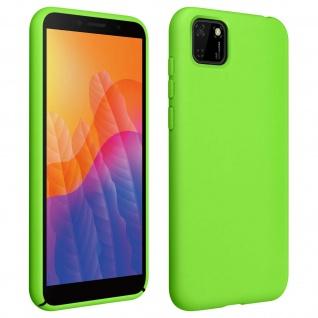 Halbsteife Silikon Handyhülle Huawei Y5p, Soft Touch - Grün